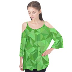 Mosaic Tile Geometrical Abstract Flutter Tees