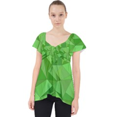 Mosaic Tile Geometrical Abstract Lace Front Dolly Top