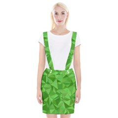 Mosaic Tile Geometrical Abstract Braces Suspender Skirt