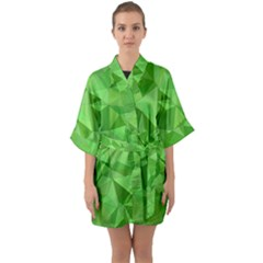 Mosaic Tile Geometrical Abstract Quarter Sleeve Kimono Robe by Mariart