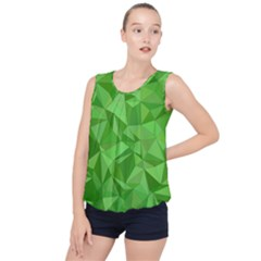 Mosaic Tile Geometrical Abstract Bubble Hem Chiffon Tank Top by Mariart