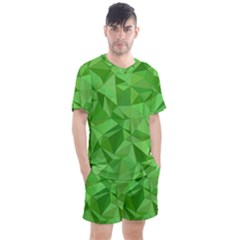 Mosaic Tile Geometrical Abstract Men s Mesh Tee And Shorts Set