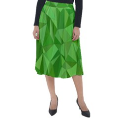 Mosaic Tile Geometrical Abstract Classic Velour Midi Skirt