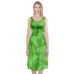 Mosaic Tile Geometrical Abstract Midi Sleeveless Dress by Mariart