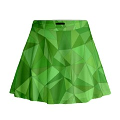 Mosaic Tile Geometrical Abstract Mini Flare Skirt by Mariart
