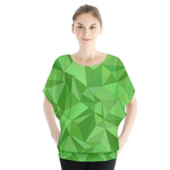 Mosaic Tile Geometrical Abstract Batwing Chiffon Blouse by Mariart