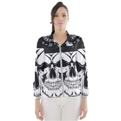 Kerchief Human Skull Windbreaker (women) by Mariart