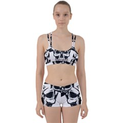 Kerchief Human Skull Perfect Fit Gym Set by Mariart