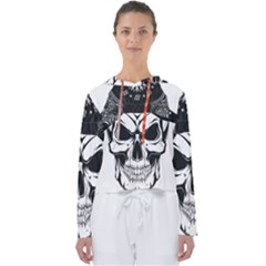 Kerchief Human Skull Women s Slouchy Sweat by Mariart