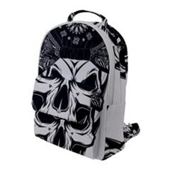 Kerchief Human Skull Flap Pocket Backpack (large) by Mariart