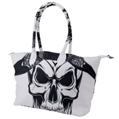 Kerchief Human Skull Canvas Shoulder Bag
