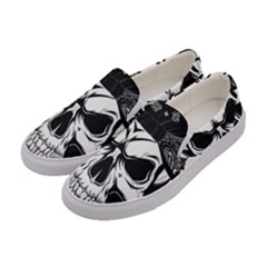 Kerchief Human Skull Women s Canvas Slip Ons by Mariart