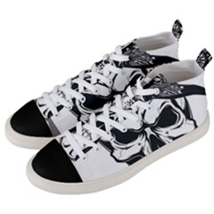 Kerchief Human Skull Men s Mid-top Canvas Sneakers by Mariart