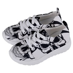 Kerchief Human Skull Kids  Lightweight Sports Shoes by Mariart