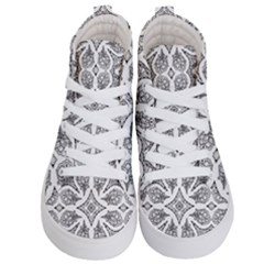 Mandala Line Art Kids  Hi Top Skate Sneakers
