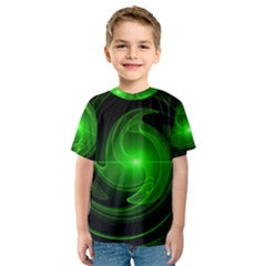 Lines Rays Background Light Kids  Sport Mesh Tee