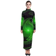 Lines Rays Background Light Turtleneck Maxi Dress