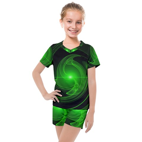 Lines Rays Background Light Kids  Mesh Tee And Shorts Set by Mariart