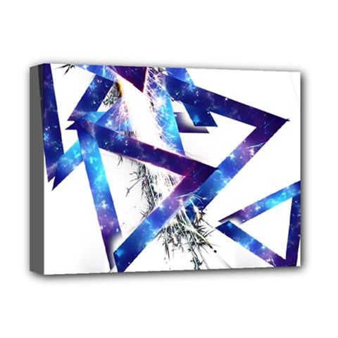 Metal Triangle Deluxe Canvas 16  X 12  (stretched)