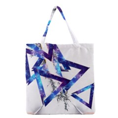 Metal Triangle Grocery Tote Bag by Mariart