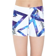 Metal Triangle Kids  Sports Shorts by Mariart