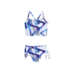 Metal Triangle Girls  Tankini Swimsuit by Mariart