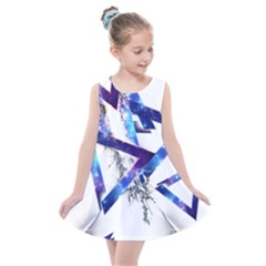 Metal Triangle Kids  Summer Dress by Mariart