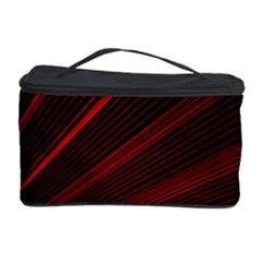 Line Geometric Red Object Tinker Cosmetic Storage by Mariart