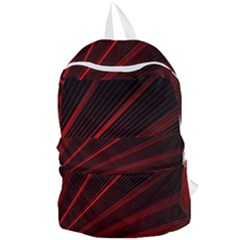 Line Geometric Red Object Tinker Foldable Lightweight Backpack by Mariart