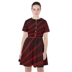 Line Geometric Red Object Tinker Sailor Dress