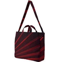 Line Geometric Red Object Tinker Square Shoulder Tote Bag by Mariart