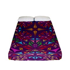 Kaleidoscope Triangle Pattern Fitted Sheet (full/ Double Size) by Mariart