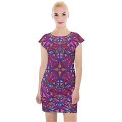 Kaleidoscope Triangle Pattern Cap Sleeve Bodycon Dress by Mariart