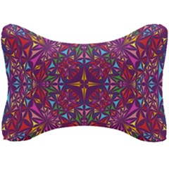 Kaleidoscope Triangle Pattern Seat Head Rest Cushion by Mariart