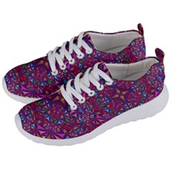 Kaleidoscope Triangle Pattern Men s Lightweight Sports Shoes by Mariart
