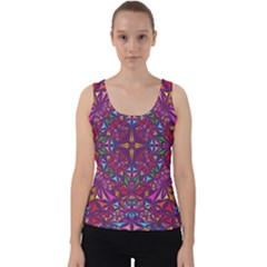 Kaleidoscope Triangle Pattern Velvet Tank Top by Mariart