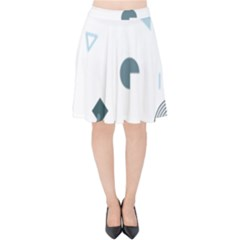 Shape Vector Triangle Velvet High Waist Skirt