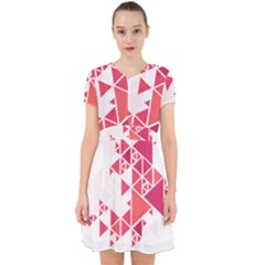 Red Triangle Pattern Adorable In Chiffon Dress