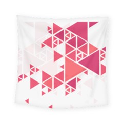 Red Triangle Pattern Square Tapestry (small)
