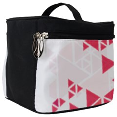 Red Triangle Pattern Make Up Travel Bag (big)