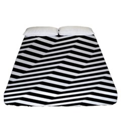 Zigzag Chevron Fitted Sheet (king Size) by Mariart