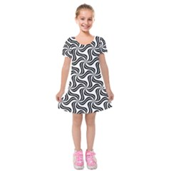 Soft Pattern Repeat Kids  Short Sleeve Velvet Dress by Mariart