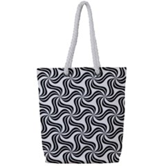 Soft Pattern Repeat Full Print Rope Handle Tote (small)