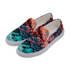 Dragon Scales Women s Canvas Slip Ons by WensdaiAddamns