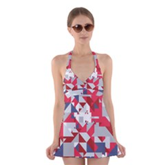 Technology Triangle Halter Dress Swimsuit  by Mariart