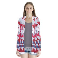 Technology Triangle Drape Collar Cardigan by Mariart