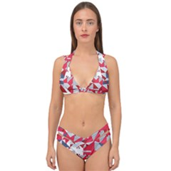 Technology Triangle Double Strap Halter Bikini Set by Mariart