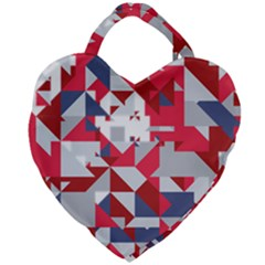 Technology Triangle Giant Heart Shaped Tote by Mariart