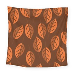 Pattern Leaf Plant Square Tapestry (large) by Mariart