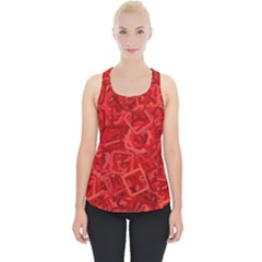 Red Pattern Technology Background Piece Up Tank Top